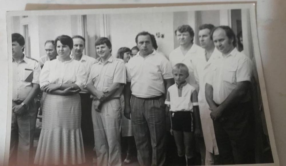 De la dreapta spre stânga: Mihail Tambur, Petru Caterev, Ion Cojocaru.